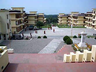 Gyuto Order - View of university buildings from Gyuto Gompa in India
