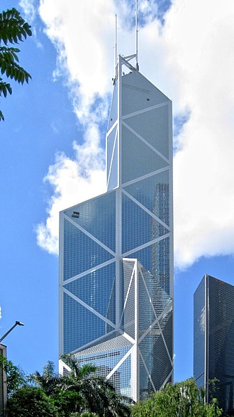 Bank of China Tower (Hong Kong) - The Bank of China Tower by day in June 2008