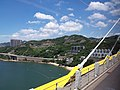HK CityBus 960 view 汀九橋 Ting Kau Bridge 斜拉橋 Cable-stayed Tuen Mun District Tsing Long Highway August 2018 IX1 藍巴勒海峽 Rambler Channel 星悅海灣 Grand Rivera 04.jpg