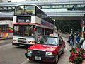 HK Kwun Tong 麗港城 Laguna City 九巴 KMBus219X Taxi Cha Kwo Ling Road footbridge.JPG