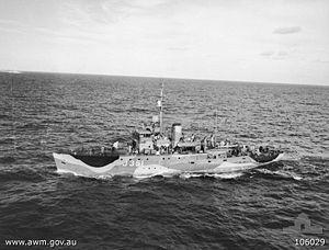 HMAS Cowra - HMAS Cowra in 1944
