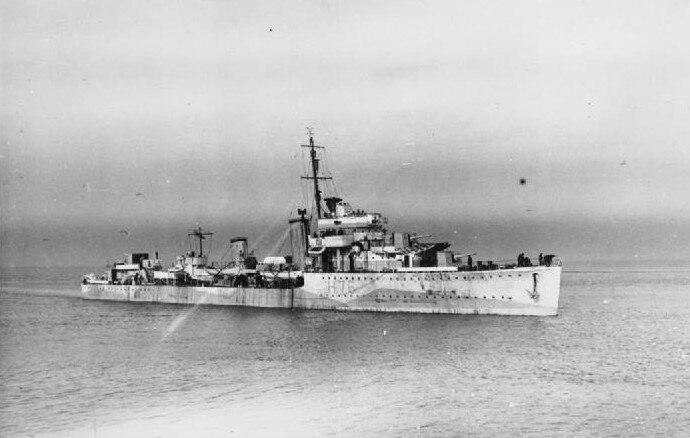HMS Fury underway