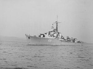 HMS Wakeful (1943) - Image: HMS Wakeful WWII IWM FL 12547