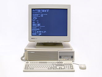 UNIX System V - HP 9000 C110 running HP-UX in console mode
