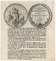 HUA-38689-Afbeelding van twee zijden van een gedenkpenning op de Vrede van Utrecht in 1713 met een beschrijving in 22 regels.jpg