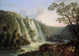 Gaius Maecenas - Villa of Maecenas in Tivoli, Italy, Jacob Philipp Hackert, 1783