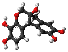 Ball-and-stick model of the haematoxylin molecule