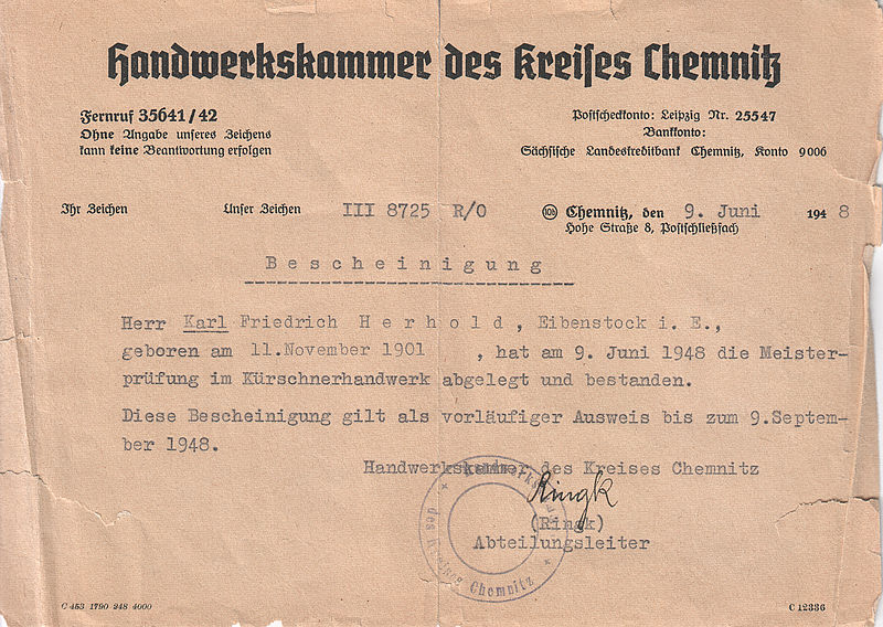 file handwerkskammer kreis chemnitz k rschner meisterpr fung karl friedrich. Black Bedroom Furniture Sets. Home Design Ideas