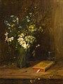 Hans Thoma - Stillleben mit Feldblumen in einer Glasvase (1883).jpg