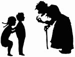 Hansel and Gretel and witch silhouettes.svg