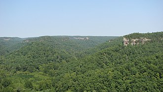 Appalachian mixed mesophytic forests - Hanson's Point in the Red River Gorge, Kentucky