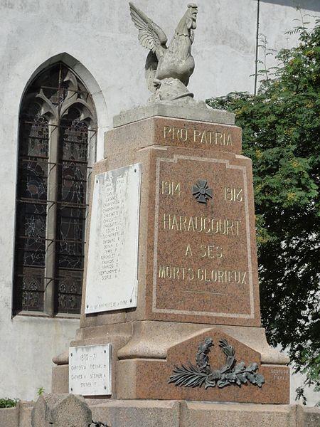 Haraucourt (M-et-M) monument aux morts