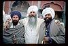 Harbhajan Singh with Bhai Amrik Singh and Baba Nihal Singh 1980.jpg
