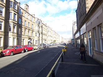 Polwarth, Edinburgh - A typical row of tenements in Polwarth