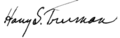 Harry S. Truman signature.png