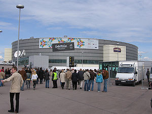 Eurovision Song Contest 2007 - Hartwall Areena, Helsinki - host venue of the 2007 contest.