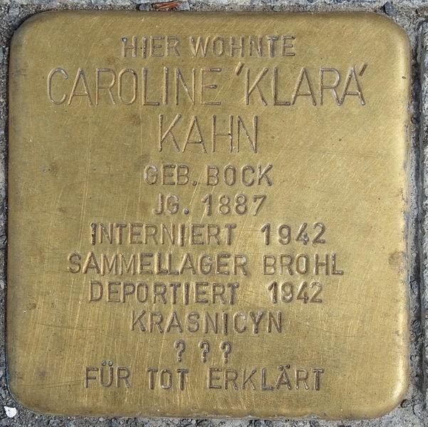File:Heimersheim (Bad Neuenahr-Ahrweiler) Stolperstein Caroline Kahn 2914.JPG