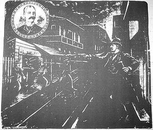 "March 14, 1891, lynchings - Artist's conception of Hennessy's murder. ""Scene of the Assassination"", The Mascot, New Orleans, 1890."