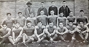 Henry McDonald (American football) - Coach McDonald and his 1940 DeSales High School football team.