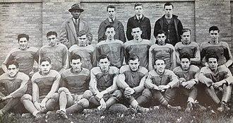 Henry McDonald (American football) - Coach McDonald and his 1940 DeSales High School football team.
