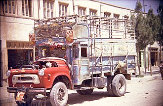 Herat - A truck in Herat in 1969
