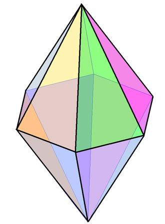 Hexagonal bipyramid - Image: Hexagonale bipiramide