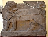 Hittite sphinx. Basalt. 8th century BC. From Sam'al. Museum of the Ancient Orient, Istanbul.jpg