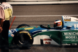 1994 German Grand Prix - Michael Schumacher started fourth but retired from the race.