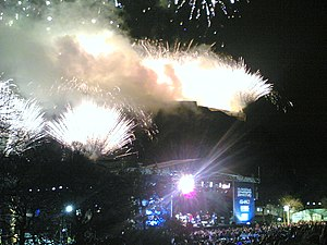 Hogmanay Party in Princes Street Gardens, Edin...