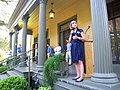 Holly Benson at the Brokaw-McDougall House in Tallahassee campaigning for the attorney general office.jpg