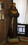 Holy Family Catholic Church (Oldenburg, Indiana) - interior, Saint Francis of Assisi statue.jpg
