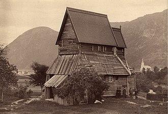 Hopperstad Stave Church - Image: Hopperstad stavkirke, Hoprekstad stavkirke, Sogn og Fjordane Riksantikvaren T291 01 0012