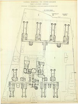 Royal Infirmary of Edinburgh - Floor plan in 1893