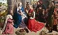 Hugo van der Goes (Gand, 1440 circa – Auderghem, 1482) Altare Monforte - Adorazione dei Magi (1470 circa) - Tecnica olio su tavola Dimensioni 147×242 cm - Gemäldegalerie, Berlin.jpg