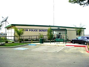 Huron, California - Huron Police Department, shown c. 2008