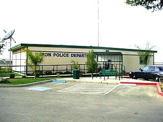 Huron, California - Huron Police Department, shown c. 2008