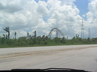 Hurricane Charley - Powerline in Cuba damaged by Hurricane Charley
