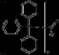 Hydridorhodium carbonyl tris(triphenylphosphine) molecule.png