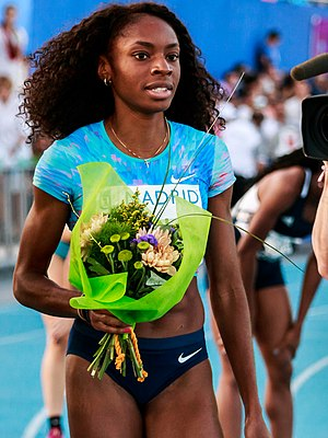 Courtney Okolo - Image: IAAF World Challenge Meeting Madrid 2017 170714 204920 2