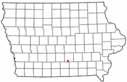 Location of Columbia, Iowa