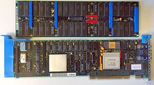 IBM 8514 - The IBM 8514 Micro Channel adapter, with memory add-on.