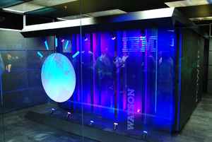 Yorktown, New York - IBM's Watson computer at the Thomas J. Watson Research Center