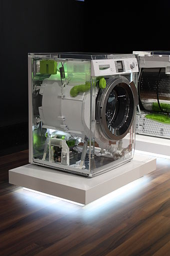 A see-through Bosch machine at the IFA 2010 in Berlin shows off its internal components IFA 2010 Internationale Funkausstellung Berlin 111.JPG