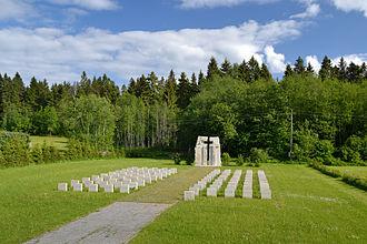 Battle of Porkuni - Image: II maailmasõjas hukkunute matmispaik (Porkuni lahing)