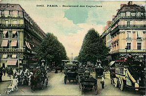 Boulevard des Capucines - Boulevard des Capucines at the start of the 20th century