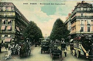 boulevard in Paris, France