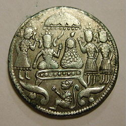INDIA AGE UNKNOWN -HINDU TEMPLE COIN a - Flickr - woody1778a.jpg