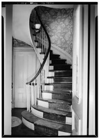 INTERIOR, FIRST FLOOR, STAIR - Sara Coburn House, 7 Dana Street, Cambridge, Middlesex County, MA HABS MASS,9-CAMB,43-3.tif