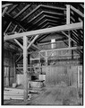 INTERIOR VIEW TO SOUTH WALL OF BARN, SHOWING FRAMING - Hayt Farmstead, Barn, Route 311, Patterson, Putnam County, NY HABS NY,40-PAT,2-G-6.tif