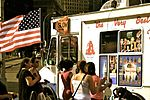 People at an ice cream truck